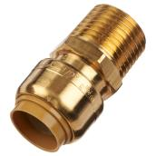 Coupling Push-Fit - Brass - 1/2'' x 1/2''