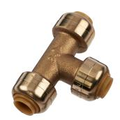 Tee in Brass - Push-fit - Lead-Free / 1/4''