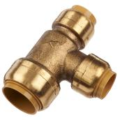 Tee - Push-Fit in Brass - 3/4'' x 1/2' x 1/2''
