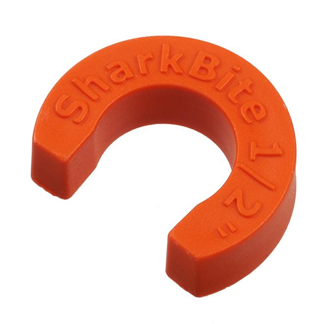 """Plastic Disconnect Clip - 1/2"""" - Orange"""