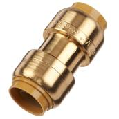 Push-Fit Brass Coupling - 1/2