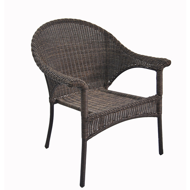 Spruce Hills Wicker Patio Chair - Stackable - Brown