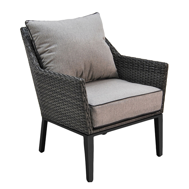 Patio Armchair Set Manhattan Black Grey Set Of 2 Lg H7005 L Rona