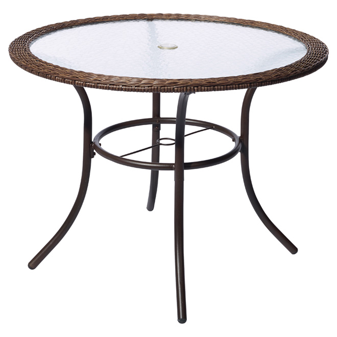Spruce Hills Patio Dining Table - Round - tempered glass - 39 1/2""