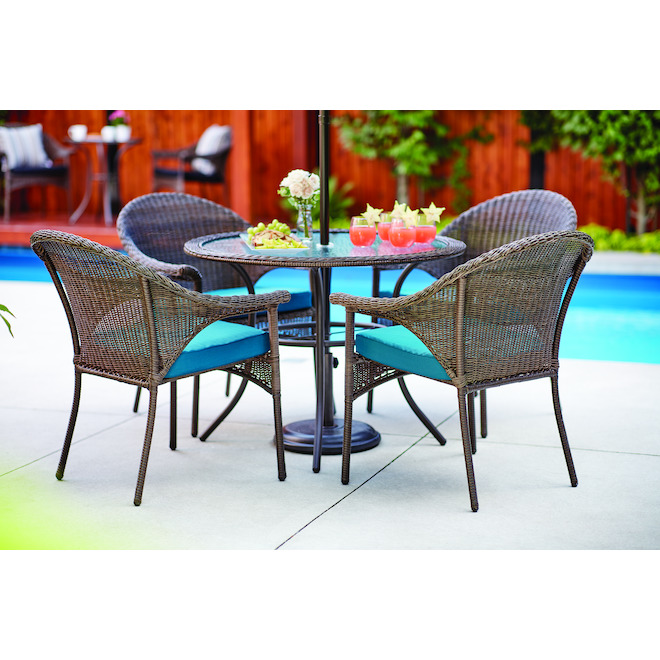 Style Selections Spruce Hills Patio, Round Patio Table Set
