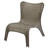 Stackable Chair - Steel and Wicker - Grey