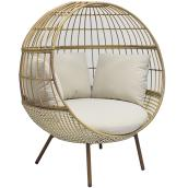 Brennfield Egg Chair - Wicker 51.2-in x 45.9-in x 59-in