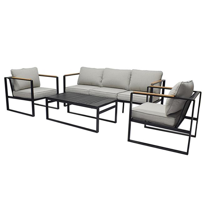 Ensemble pour patio Dufferin de Style Selections, acier, 4 pièces, gris