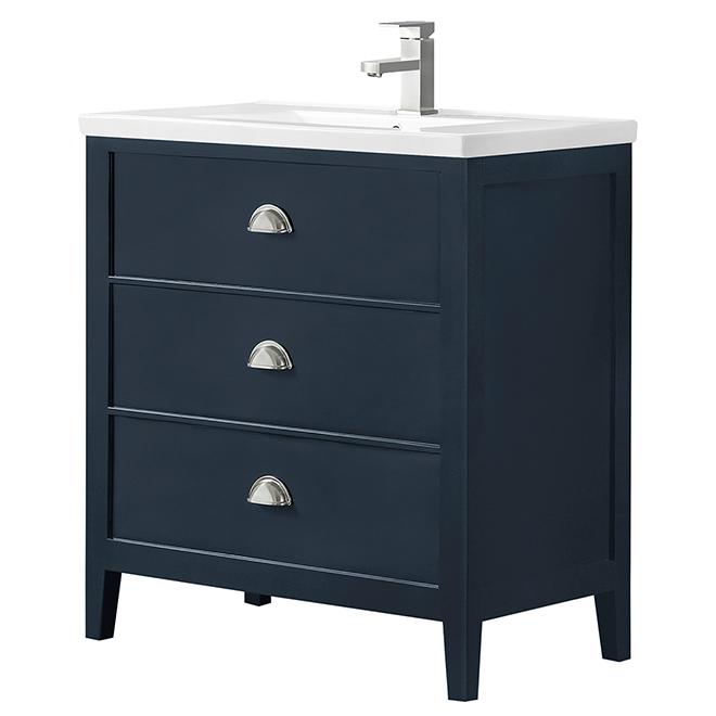 "Ove Decors Gaby Vanity - 32"" - MDF - Dark Blue"