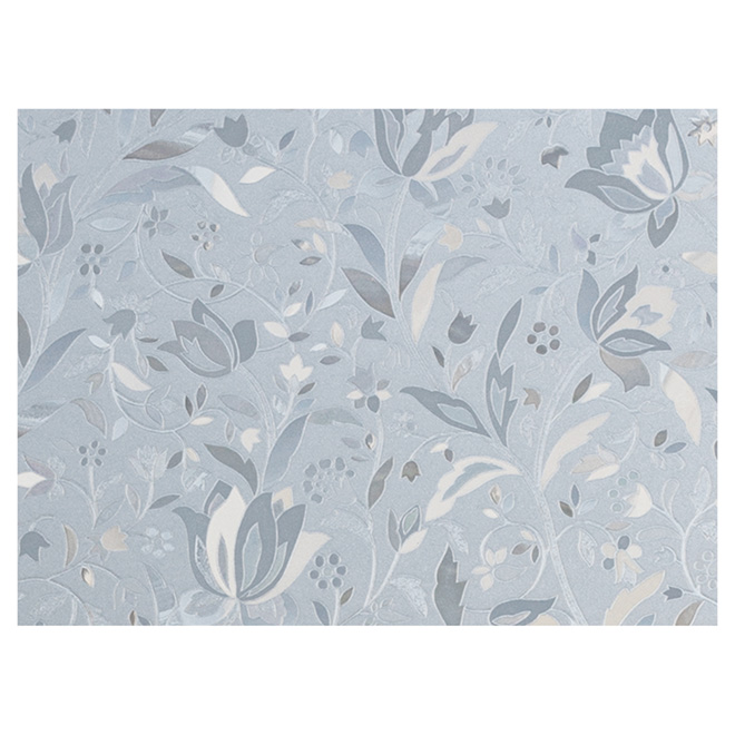 "Static-Cling Window Film- Floral -11.5"" x 78""-Clear"