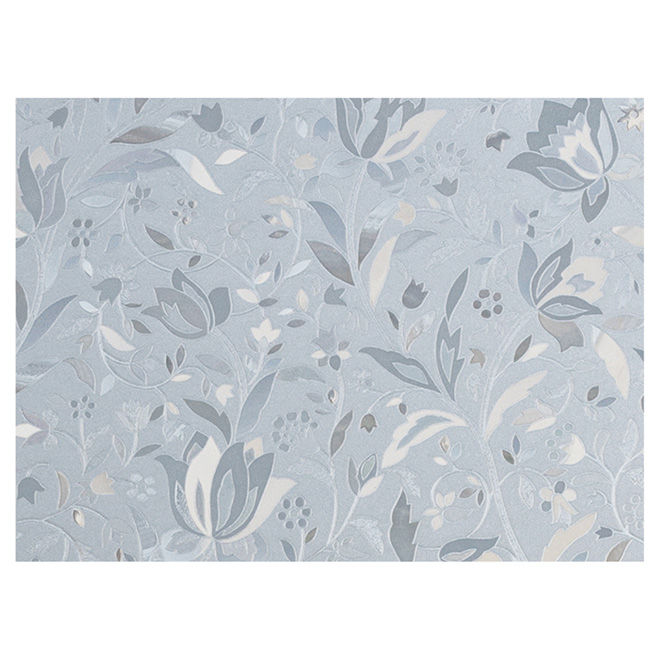 "Window Film - Floral- 24"" x 47"" - Clear"
