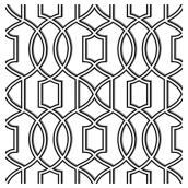 Papier peint « Symétrie », 20 po x 31 po, blanc et noir