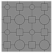 Papier peint « Symétrie », 20 po x 31 po, gris et noir