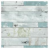 "Wallpaper - Beachwood - 20.5"" x 18' - Blue/Green"