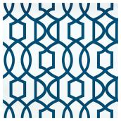 "Wallpaper - Trellis - 20.5"" x 18' - Navy"