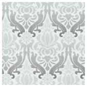 "Wallpaper - Damask Design - 20.5"" x 18' - Grey"