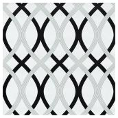 "Wallpaper - Lattice -20.5"" x 18' - Black/Grey"