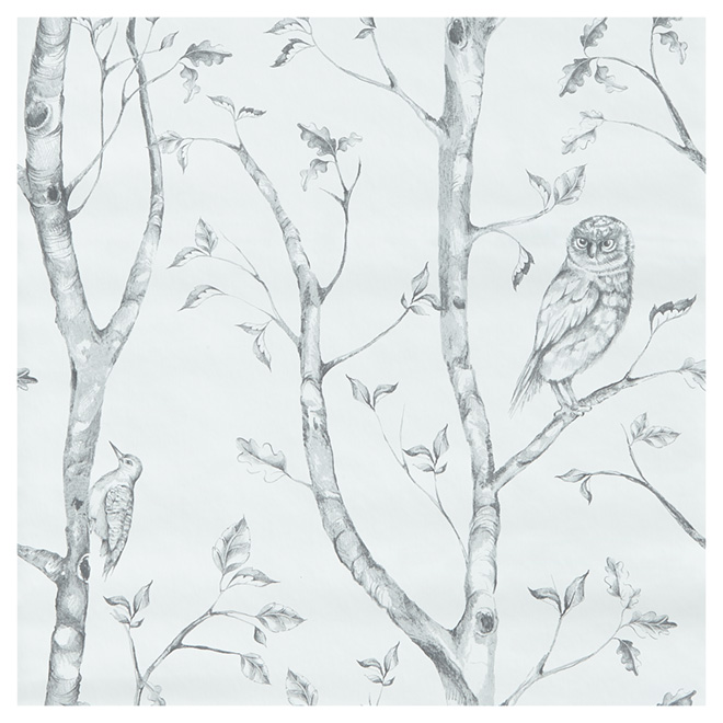 "Wallpaper - Forest - 20.5"" x 18' - Grey"