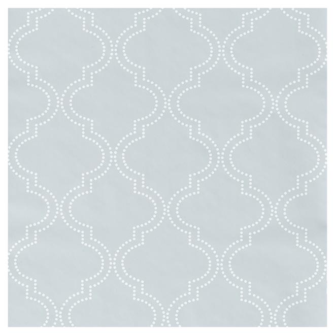 """Wallpaper - Quatrefoil - 20.5"""" x 18' - Grey"""