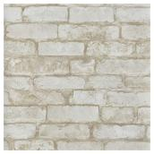 "Wallpaper- Brick Design- 20.5"" x 33' - White"