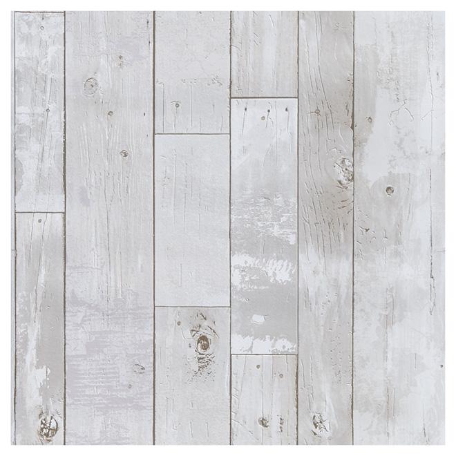 Wallpaper Plank Style 20 5 X 33 Grey 347 20131 Rona