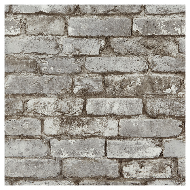 "Wallpaper - Bricks - 20.5"" x 33' -Taupe"