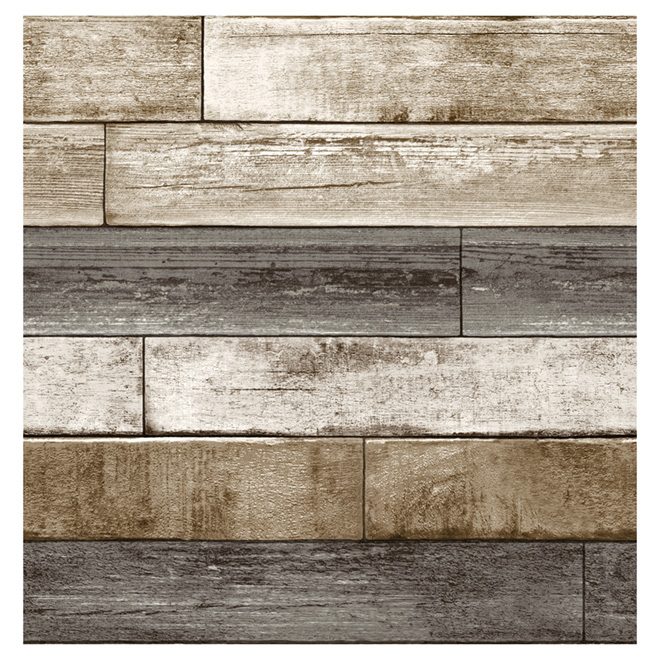 "Wallpaper - Weathered Planking - 20.5"" x 33' ..."