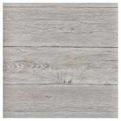 "Wallpaper - Distressed Wood - 20.5"" x 33' - Grey"