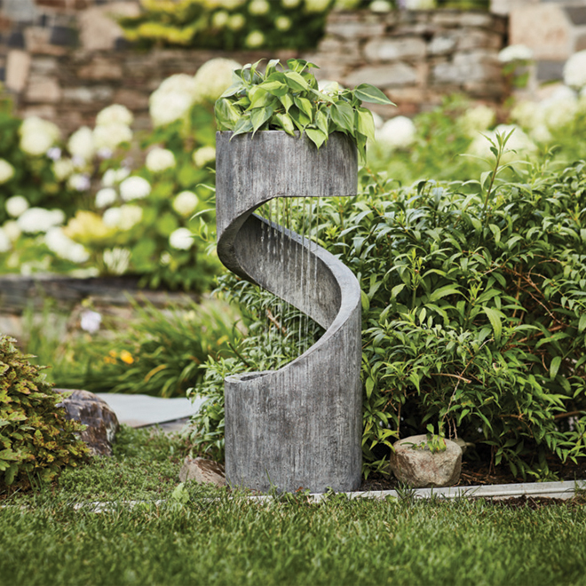 "Outdoor Fountain - Pump - Resin - 31"" x 12"""