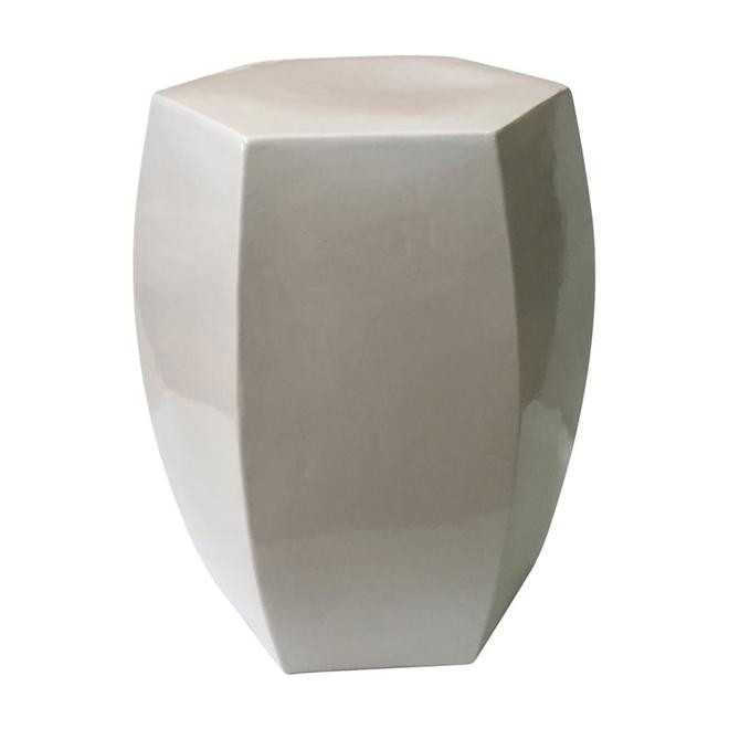 Excellent Allen Roth Ceramic Barrel Garden Stool White Crm608R Rona Inzonedesignstudio Interior Chair Design Inzonedesignstudiocom