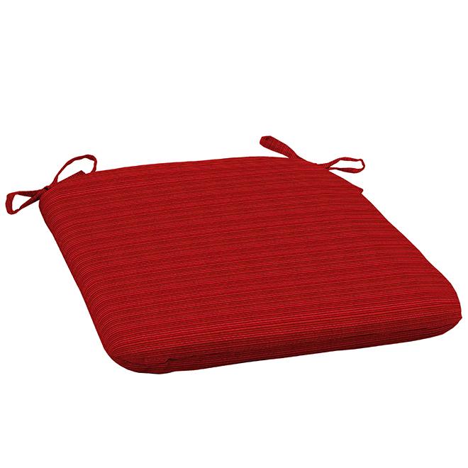 Coussin tissé pour chaise Allen + Roth, Oléfine, 18 po x 19 po, rouge