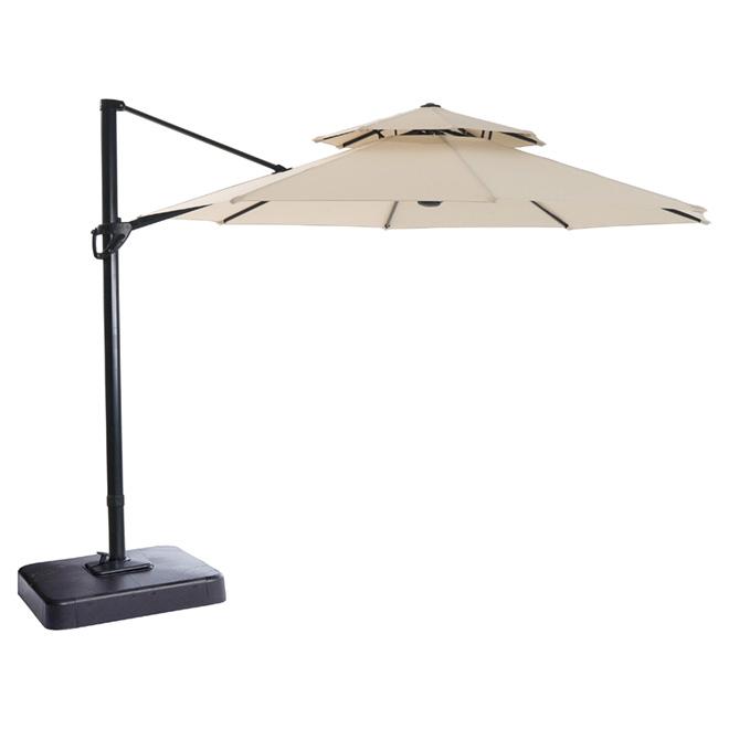 Garden Treasures Offset Patio Umbrella Tiltable 11 Natural