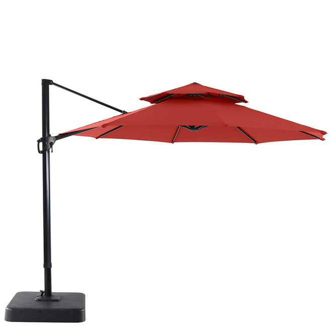 Offset Patio Umbrella - Tiltable - 11' - Red