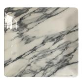 "Marble Square Melamine Side Plate - 8 1/2"" - Black/White"