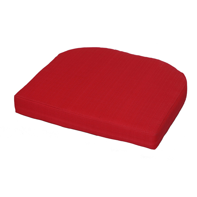 Style Selections Outdoor Seat Cushion - 20 1/2-in - Red