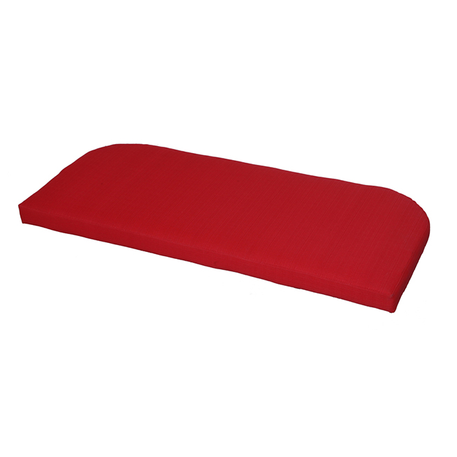 Style Selections Outdoor Settee Cushion - 41 1/4-in - Red