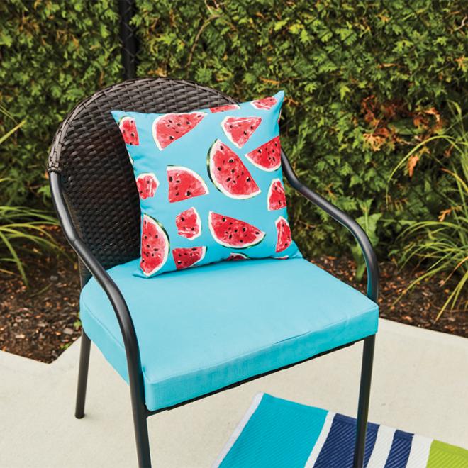 Coussin de siège pour l'extérieur Style Selections, 20 1/2 po, turquoise