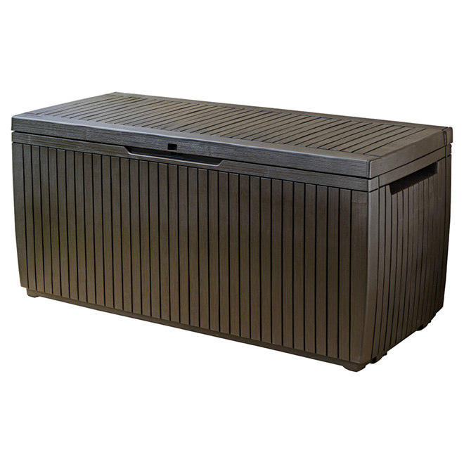 Keter Deck Box Springwood - Resin - 80-Gallon - Espresso Brown