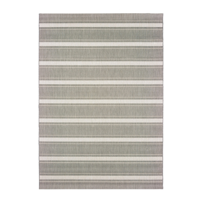 Allen + Roth Outdoor Area Rug - 8' x 10' - Stripped natural 31381863-8X10