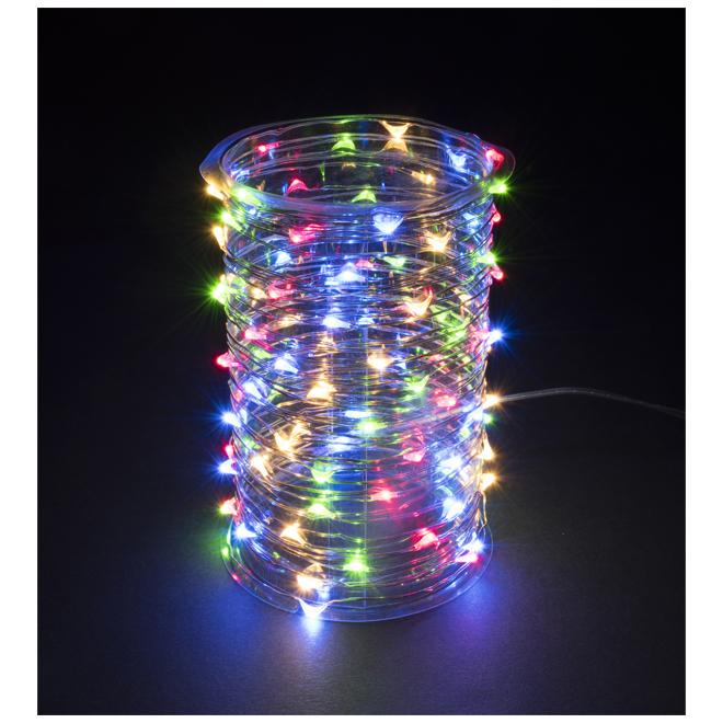 String Lights -  Solar LED - 39' - 100 Lights - Micro-Dots - Multicolour