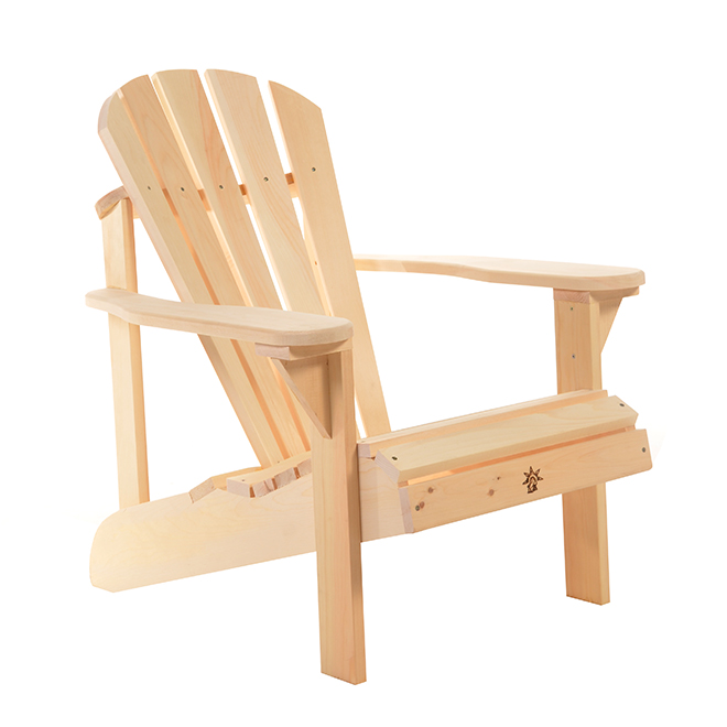 The Bear Chair Company Muskoka Chair Kit - Eastern White Pine - Natural