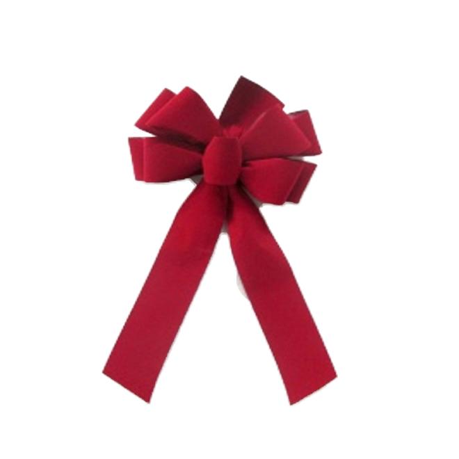 """Christmas Bow - Velvet - 19"""" - Red"""