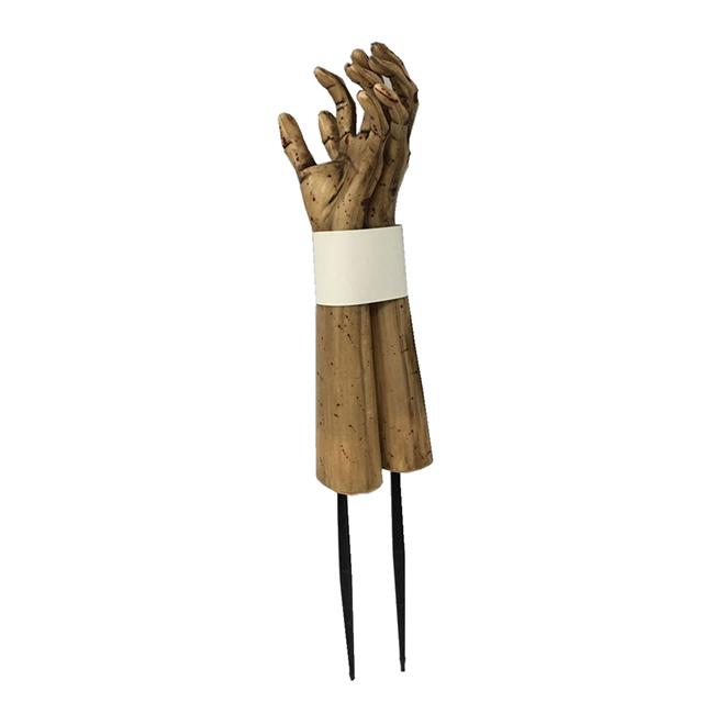 "Zombie Hand Stakes - 24"" - Plastic - 2/Pk"