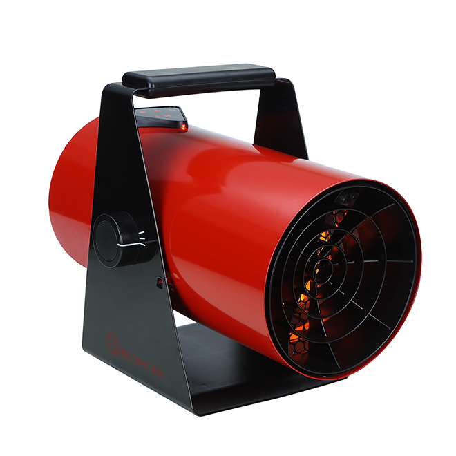 Chaufferette, quartz infrarouge, 1500W, 5100BTU, rouge