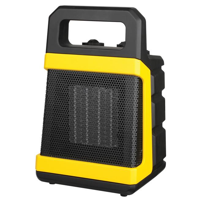 Chaufferette à céramique avec thermostat, 1500W, jaune et noir