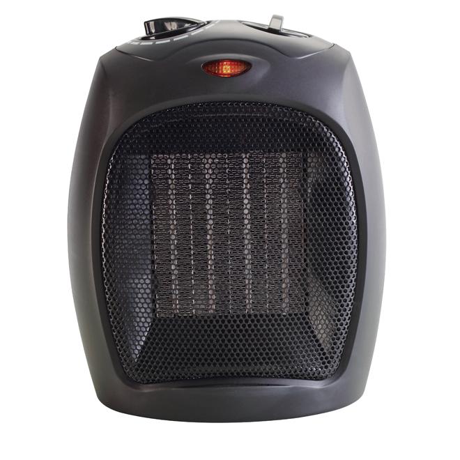 Radiateur à céramique portable, thermostat, 1500 W, noir