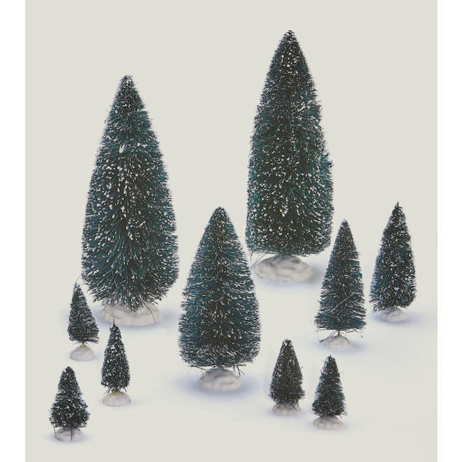 Sapins de Noël pour village, 21 pièces