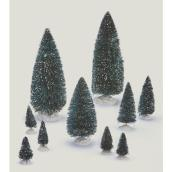 Miniature Christmas Trees for Villages - 21 Pieces