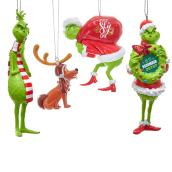 Assortment of Grinch Ornaments - Plastic