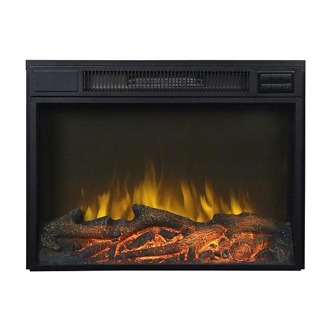 Wall-Mount Electrical Fireplace - 750 W / 1500W 120 V - Black